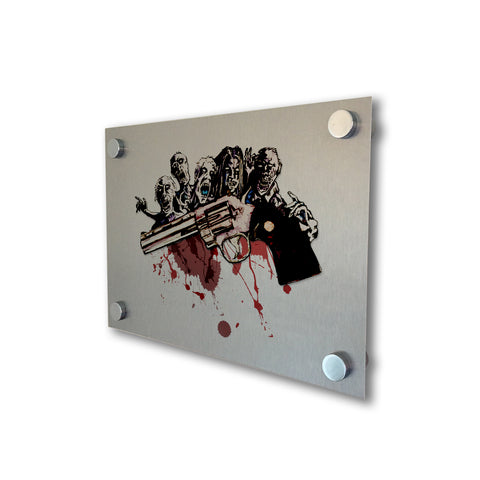 The Walking Dead - Rick's Colt Python - Brushed Metal Print