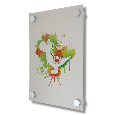 Yoshi - Mario Collection - Brushed Metal Print
