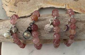 Strawberry Quartz Bracelets