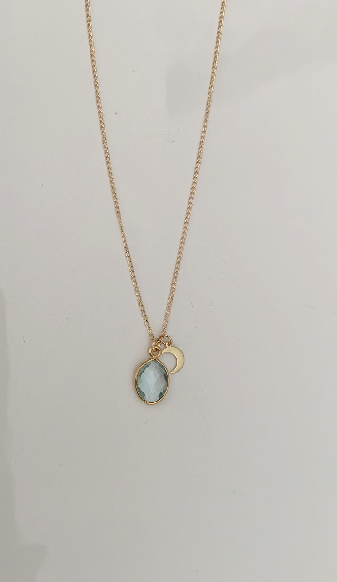 Topaz and Crescent Necklace