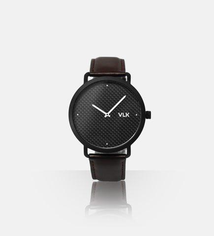 Alpha Men's Watch 010: Black + Brown - vlkwatches
