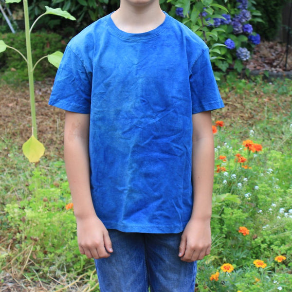Naturally Dyed T-Shirt - Fair Trade & Organic Cotton - Child & Youth Sizes - Vegan Yarn