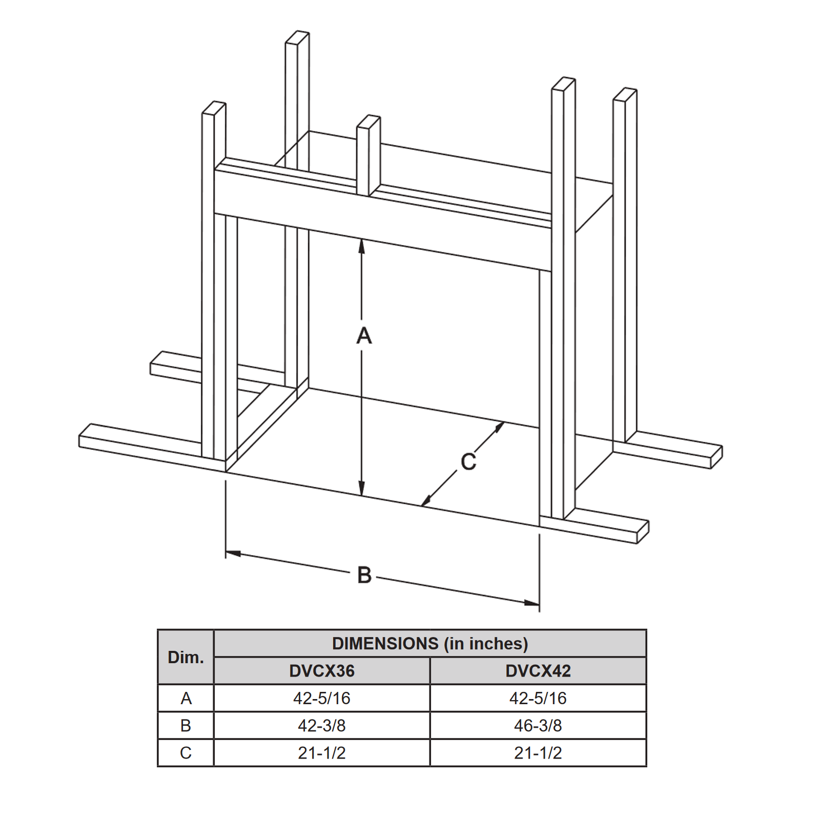 DVCX36 Technical Drawing 2