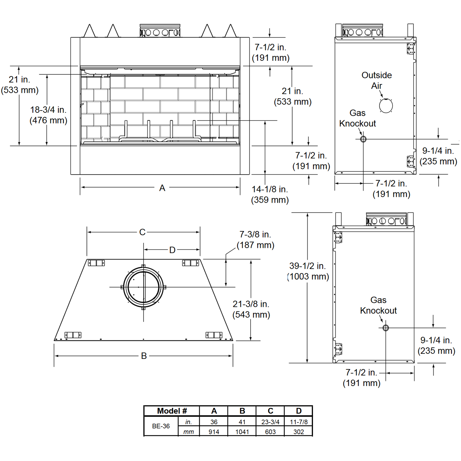 BE36 Technical Drawing 1