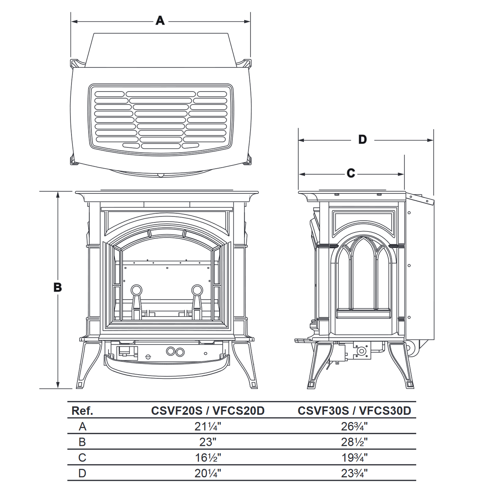 CSVF30 Technical Drawing 1