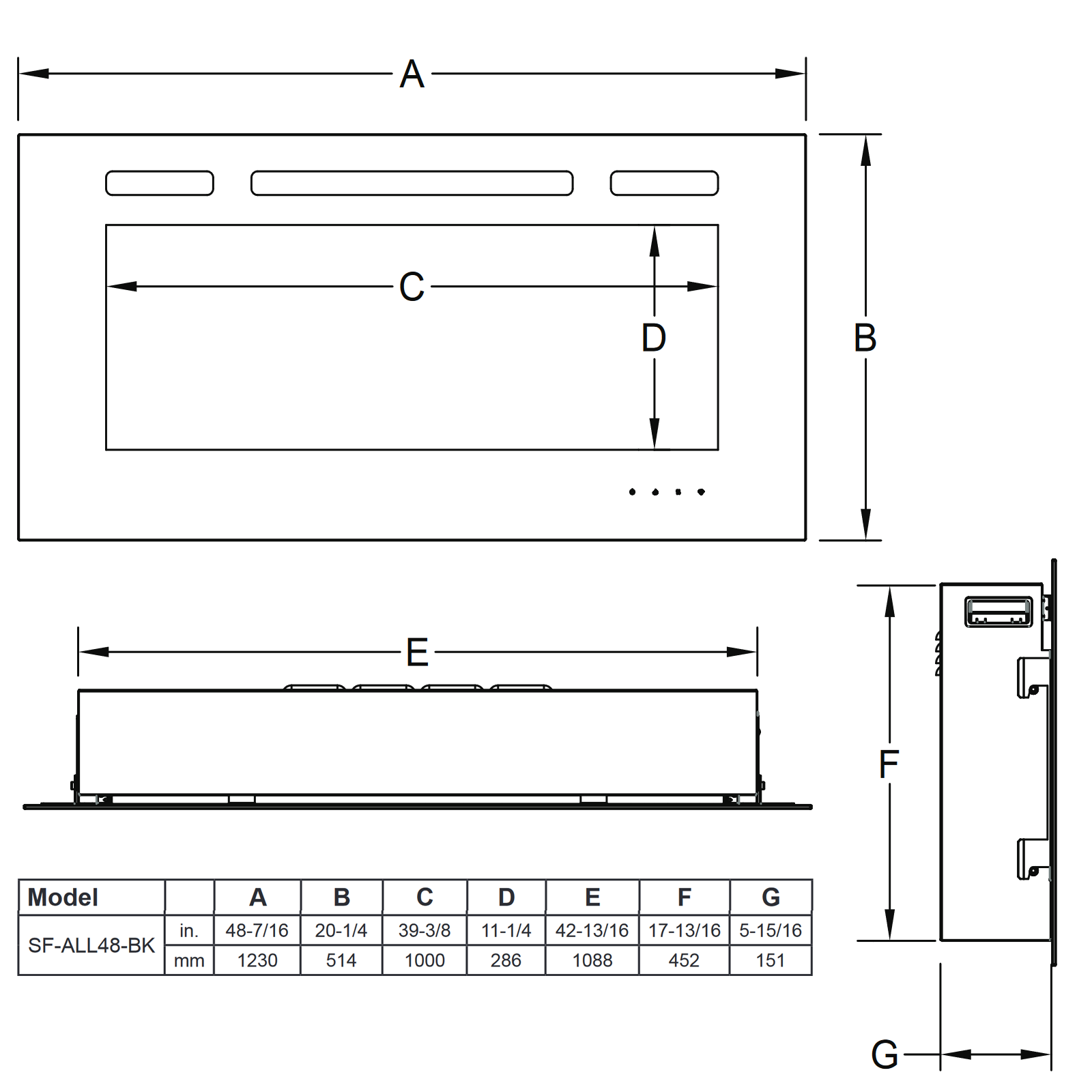 SF-ALL48 Technical Drawing 1