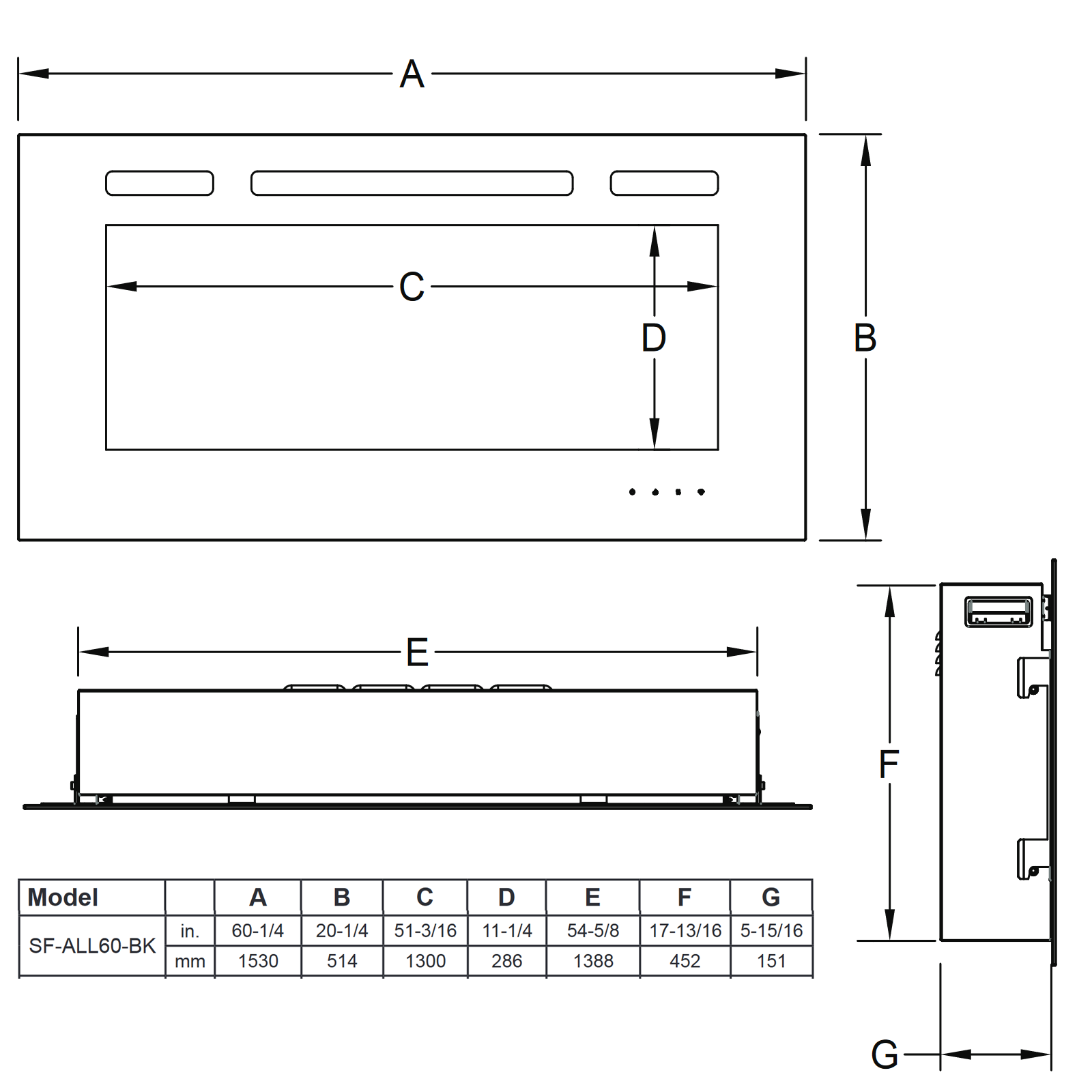 SF-ALL60 Technical Drawing 1