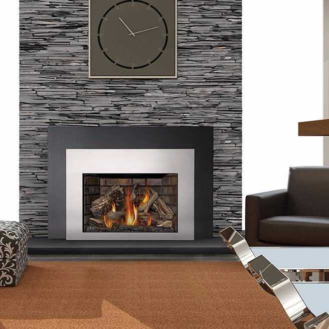 Napoleon Infrared XIR4N-1SB Direct Vent Large Deluxe Gas Fireplace Insert  with Logs - Napoleon Infrared XIR4N-1SB Direct Vent Large Deluxe Gas Fireplace