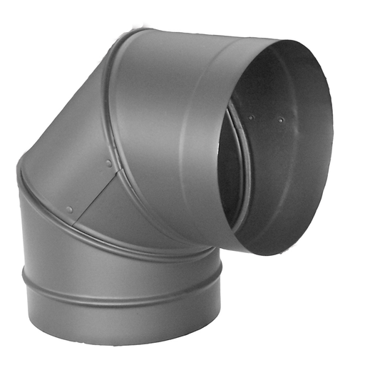 "DuraVent DuraBlack 6"" Diameter Black 22 Gauge 90? Elbow 