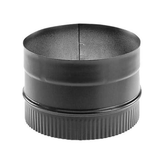 "DuraVent DuraBlack 6"" Diameter Black 22 Gauge Stove Adapter 