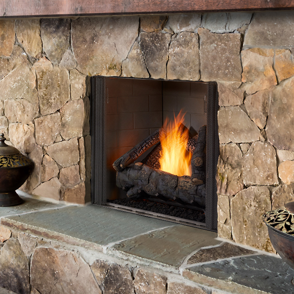 Majestic Courtyard 36 Traditional Outdoor Gas Fireplace | ODCOUG-36