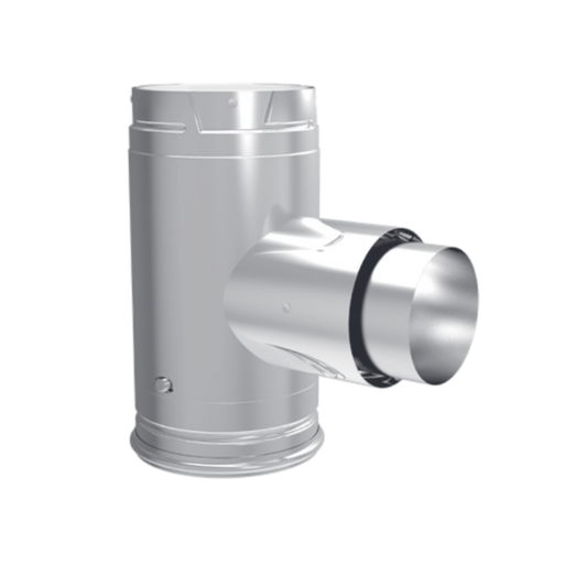 DuraVent Pellet Vent Pro Adapter Tee w/Clean-Out Tee Cap | 3PVP-TAD1