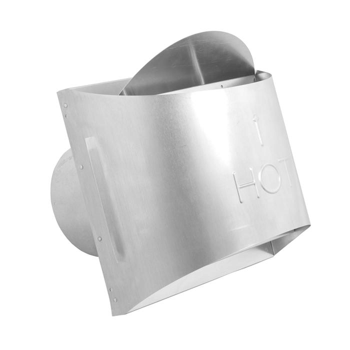 DuraVent DVP Sconce Horizontal High Wind Cap Aluminum | 46DVA-HSCH