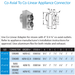 DuraVent DVP Co-Axial to Co-Linear Appliance Connector | 46DVA-GCL