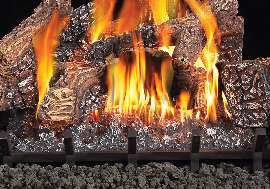"Napoleon Fiberglow GVFL24 24"" Vent Free Gas Log Sets 