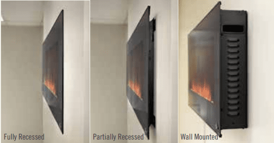 Napoleon Phantom 60 inch Wall Mounted Electric Fireplace | NEFL60FH-MT