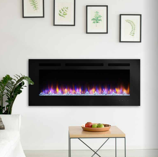 SimpliFire Allusion 60 Wall Mounted Electric Fireplace | SF-ALL60-BK