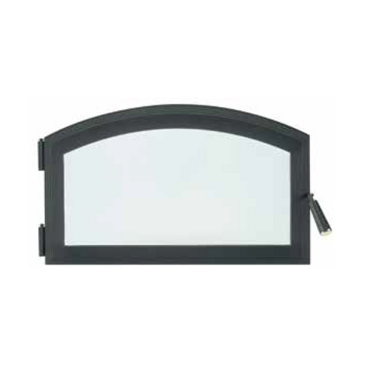 Superior Black Contemporary Arch Shape Door | BUCBK