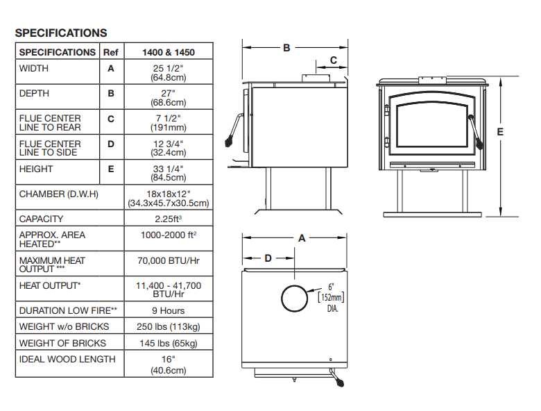 1400CP Technical Drawing Main