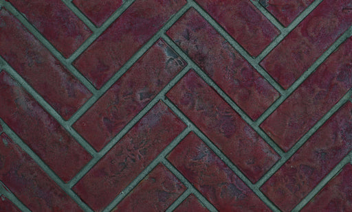 Napoleon Old Town Red Herringbone Brick Panels for X 70 | DBPX70OH