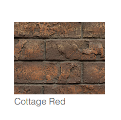 Majestic Cottage Red Traditional Brick Interior Panels | BRICKMI25CR