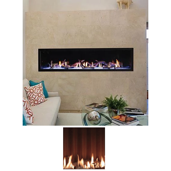"Empire Boulevard 72"" Direct Vent Linear Gas Fireplace 