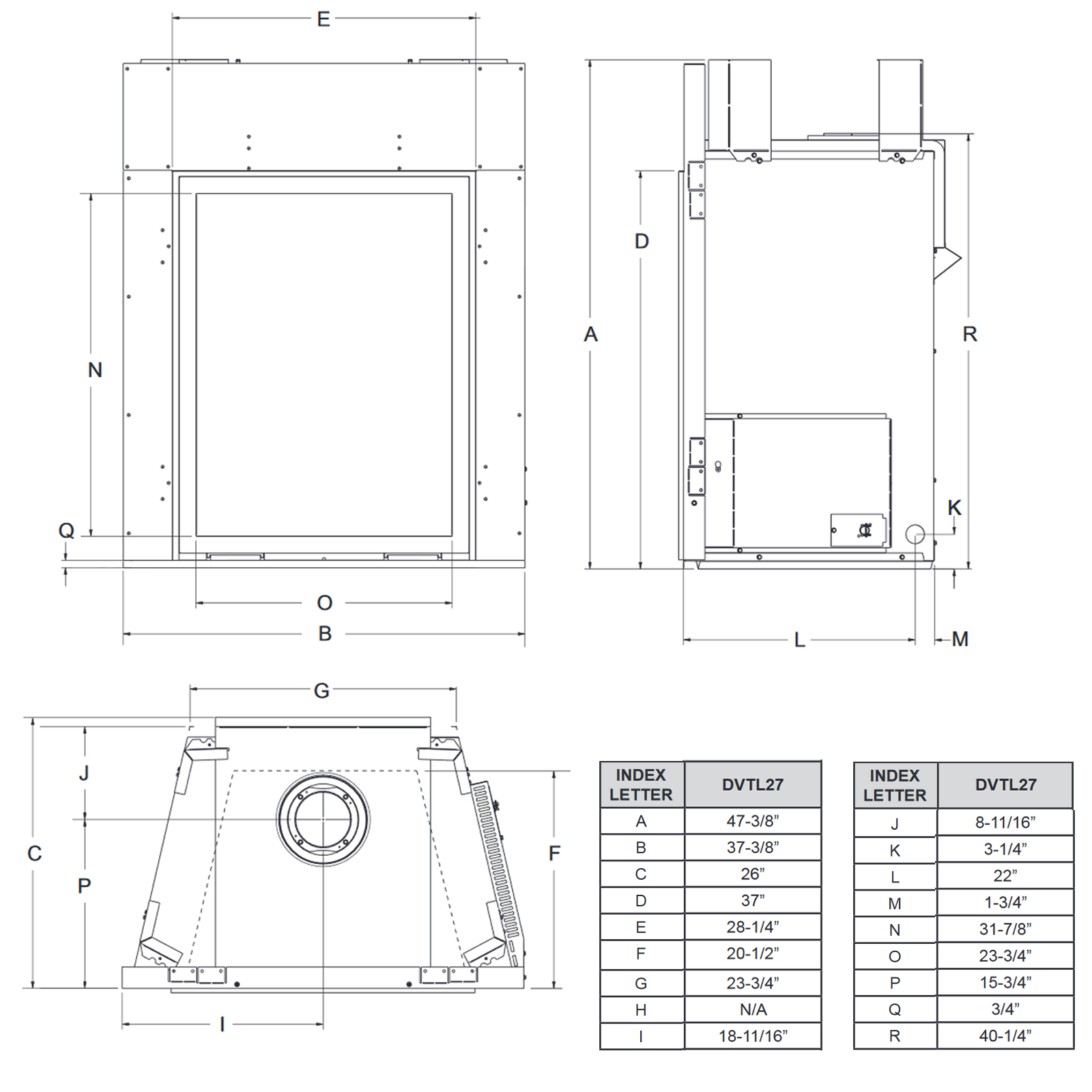 DVTL27 Technical Drawing 1