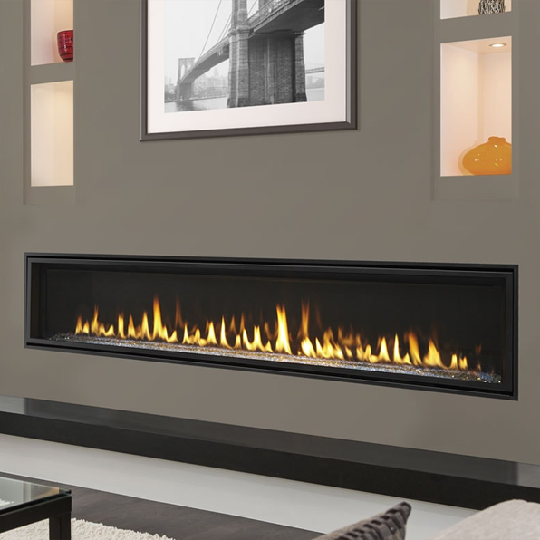 Majestic Echelon II 72 Inch Linear DV Gas Fireplace | ECHEL72IN-C