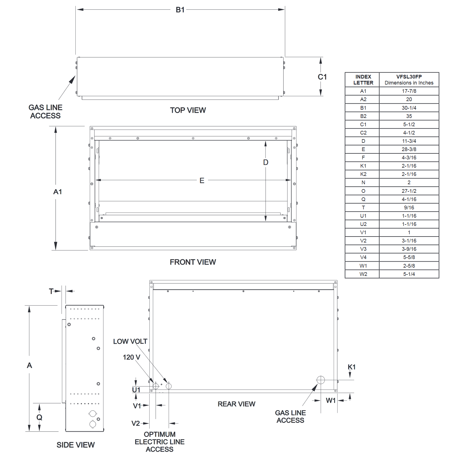 VFSL30 Technical Drawing 1