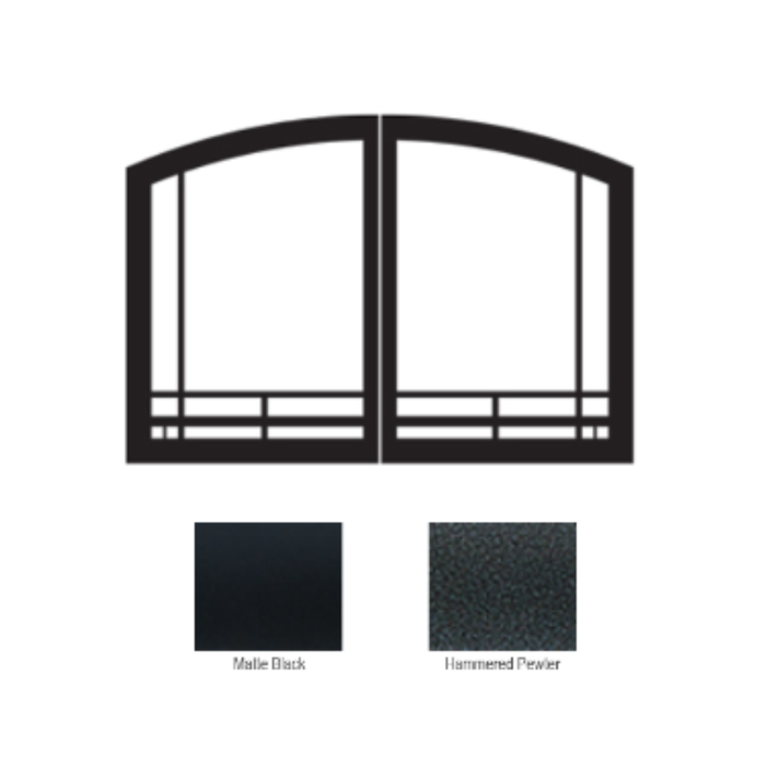 Empire Black Mission Arch Door Set | VFR36SMBL |