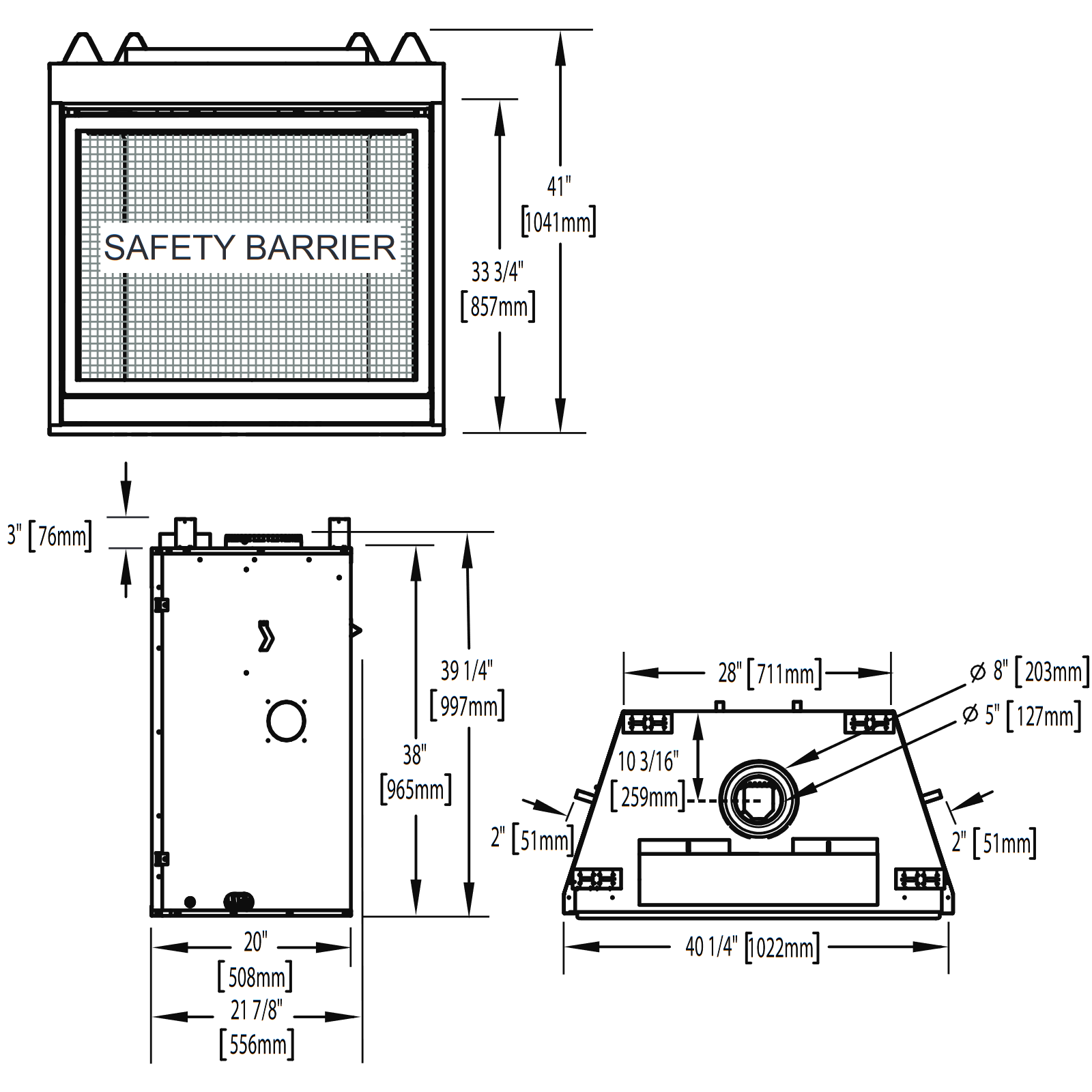 HDX40 Technical Drawing 1