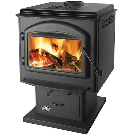Napoleon 1400 Huntsville Deluxe 1400M Metallic Black Medium Wood Stove