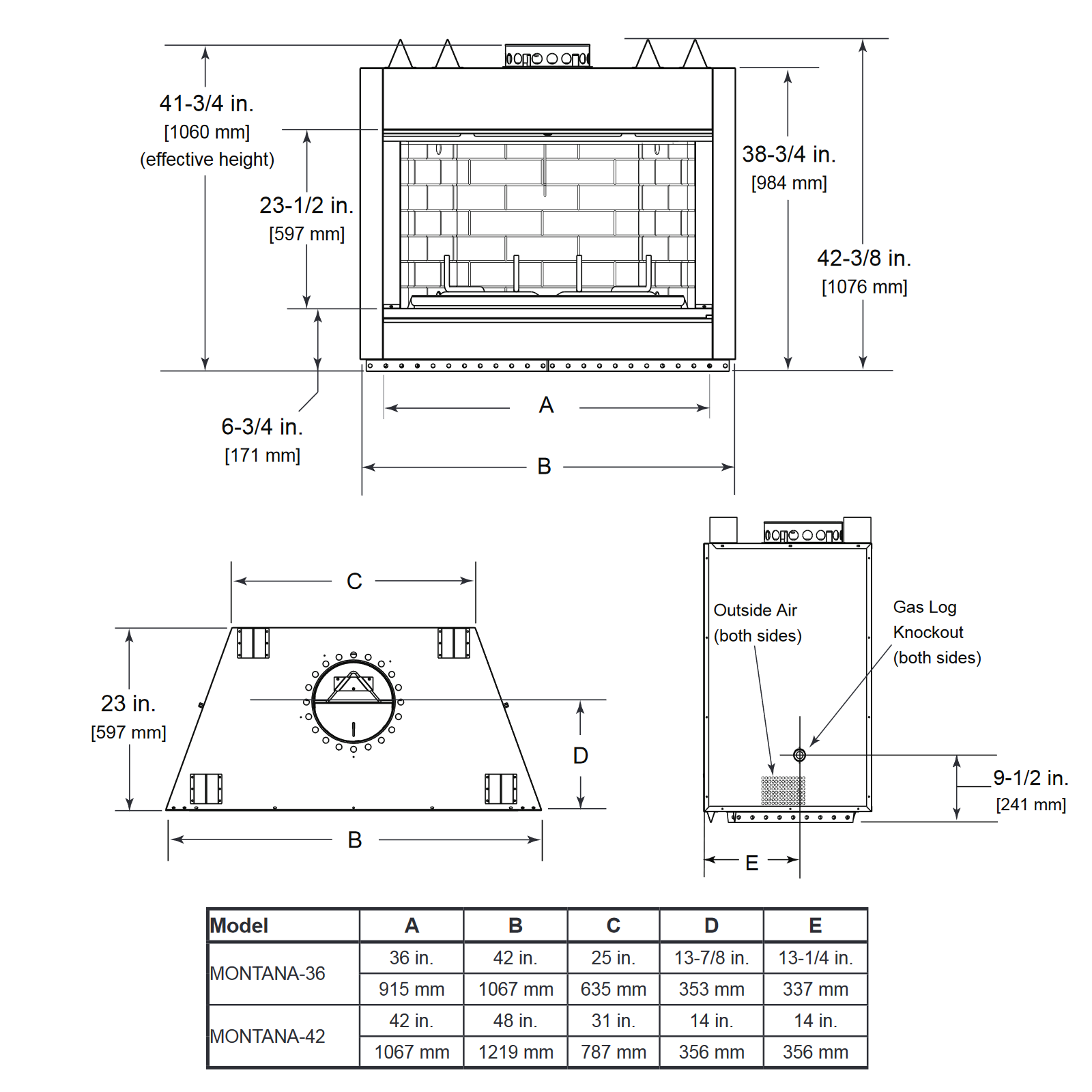 MONTANA-36 Technical Drawing 1