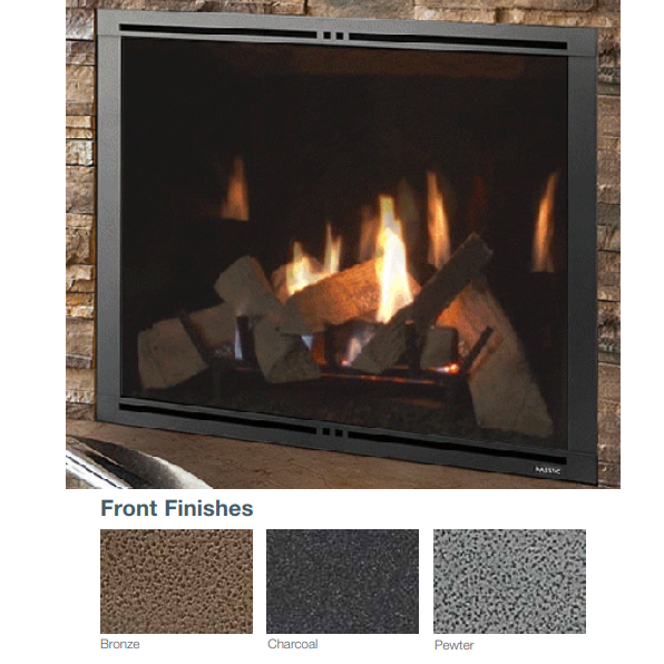 Majestic Charcoal Firescreen Front for Marquis II 36 | FSMQ36CH