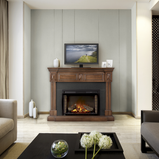 Napoleon The Braxton Electric Fireplace and Mantel | NEFP29-1215BW