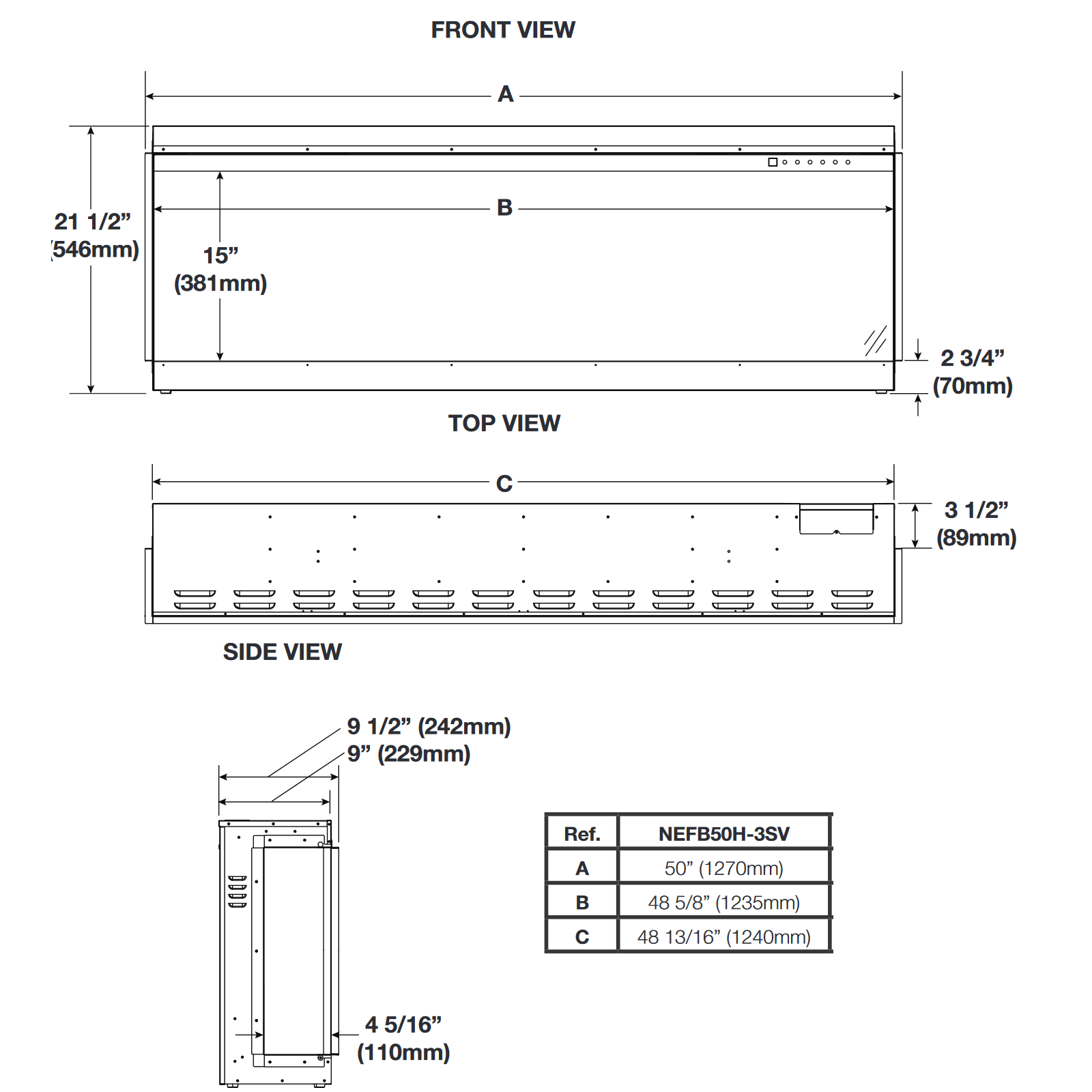 NEFB50 Technical Drawing 1