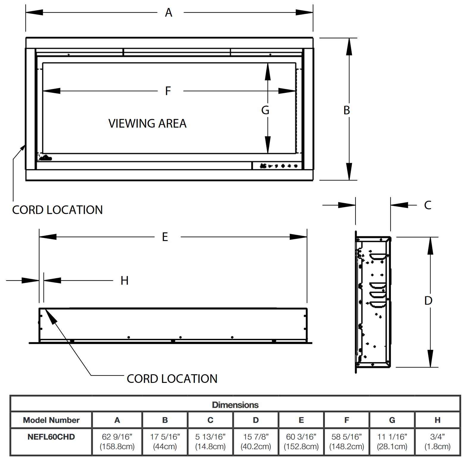 NEFL60 Technical Drawing 1