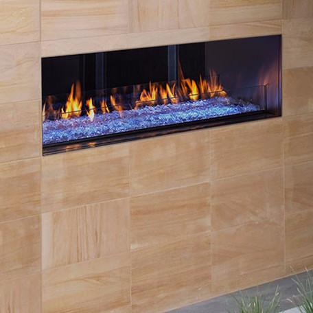 Majestic Palazzo See Thru Outdoor Linear Gas Fireplace | ODPALGST-48