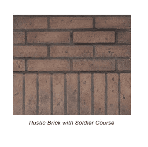 Empire Rustic Brick Liner End Panel | DVP36PRB