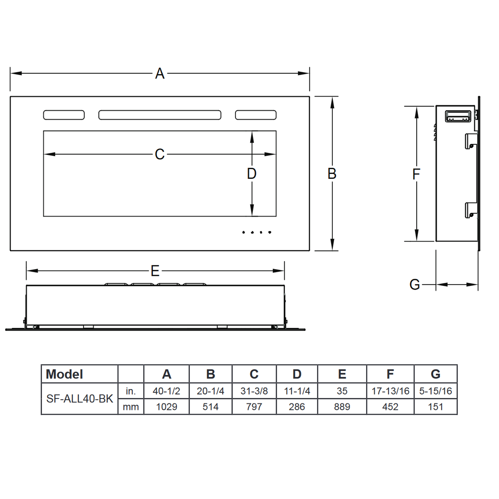 SF-ALL40 Technical Drawing 1