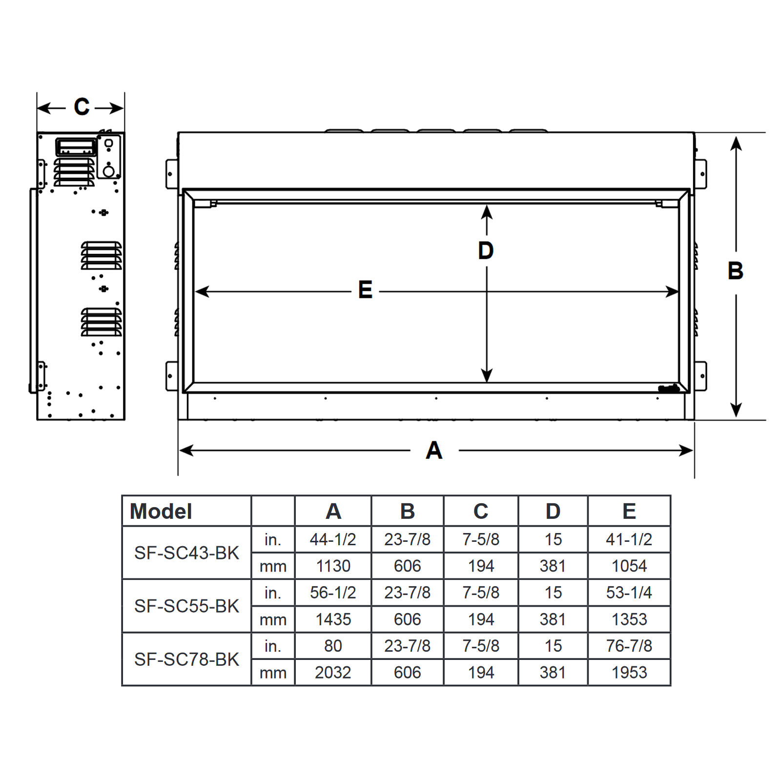 SF-SC43 Technical Drawing 1