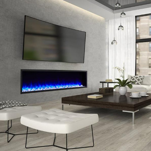 SimpliFire Scion 78 Inch Wall Mounted Electric Fireplace | SF-SC78-BK