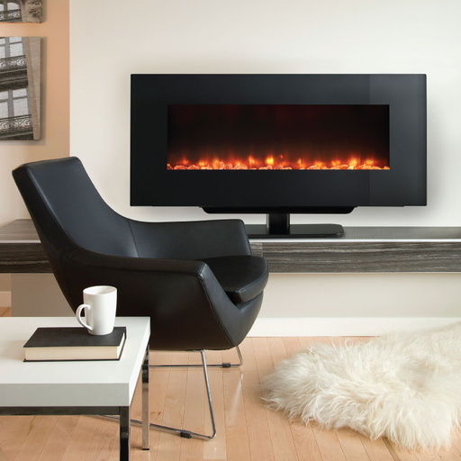 Monessen SimpliFire 38 Wall-Mount Electric Fireplace | SF-WMS38-BK