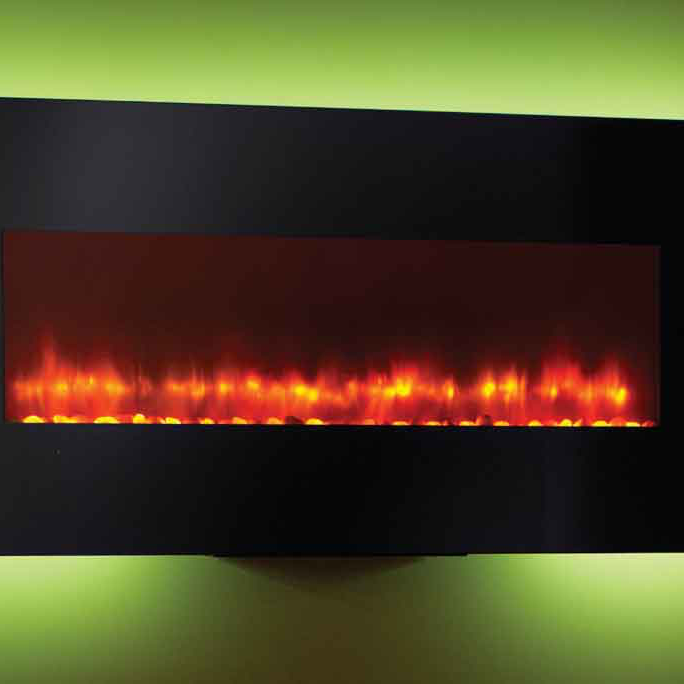 "Monessen SimpliFire 94"" Wall-Mount Electric Fireplace 