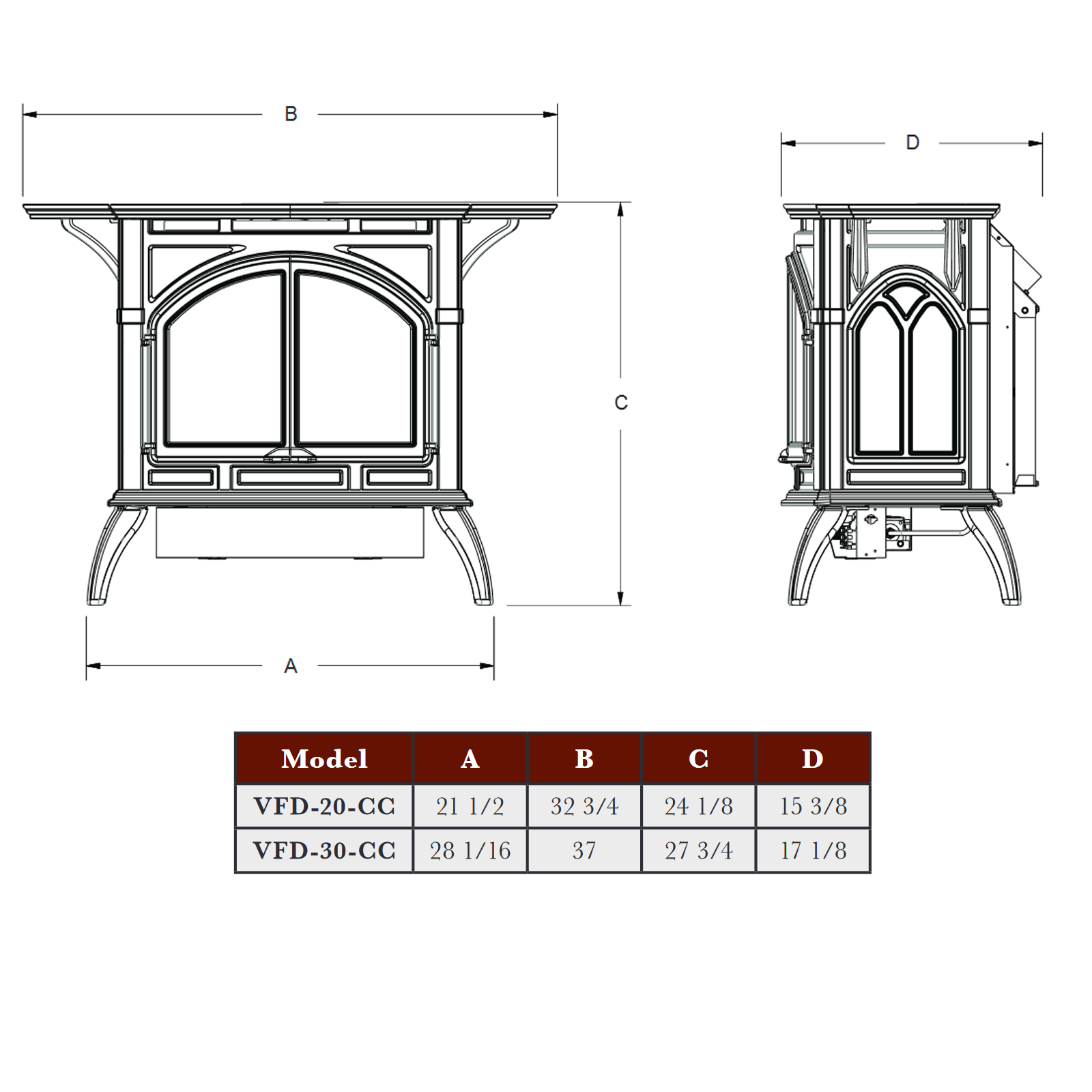 VFD30 Technical Drawing Main