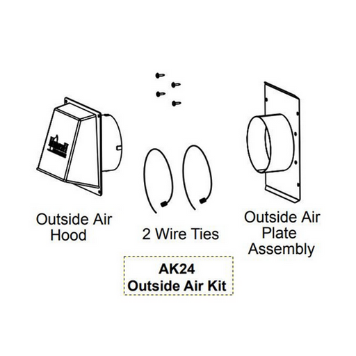 Majestic Outside Air Kit 1 Each | AK24