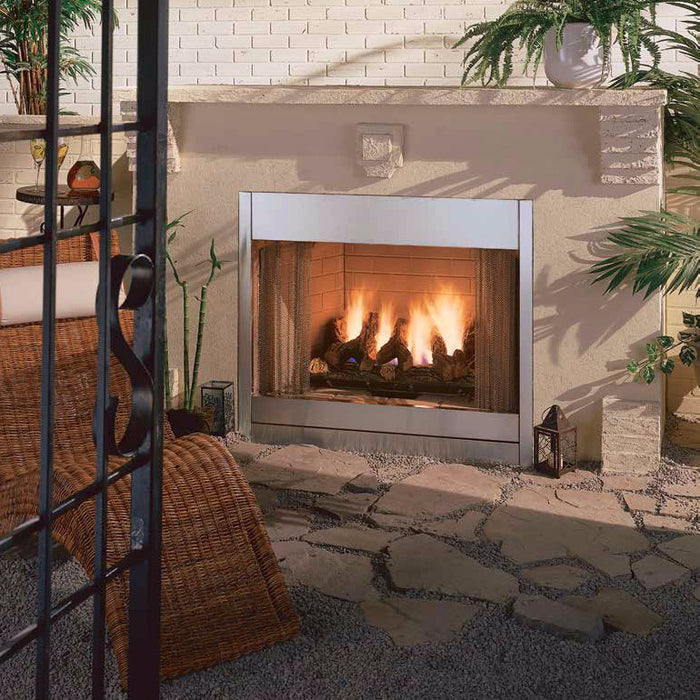"Majestic Al Fresco 36"" Outdoor Gas Fireplace 