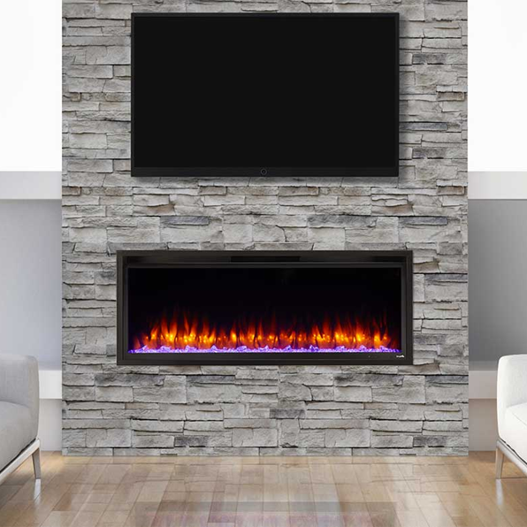 SimpliFire Allusion Platinum 50 Linear Elec Fireplace | SF-ALLP50-BK