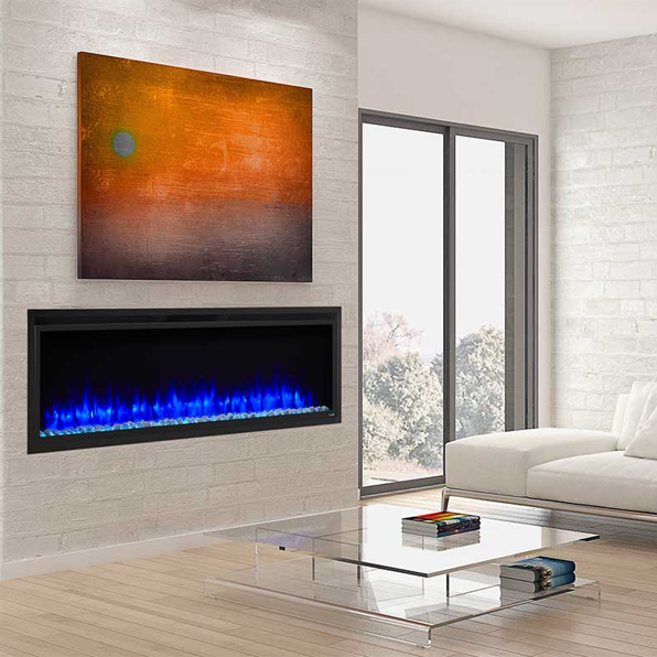 SimpliFire Allusion Platinum 60 Linear Elec Fireplace | SF-ALLP60-BK