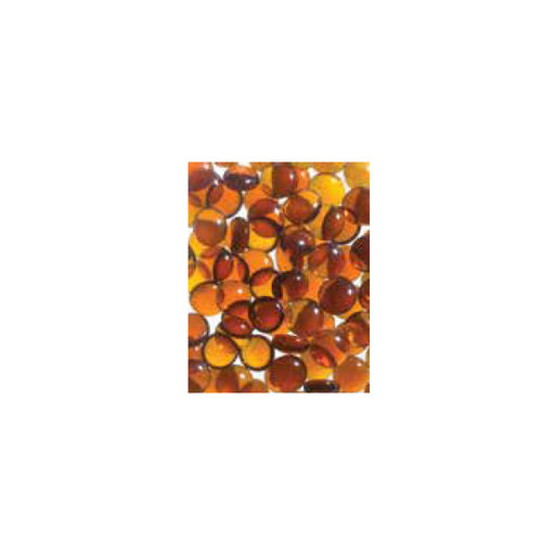 Superior Amber Smooth Glass Pebbles - 6lb Bag | GP43A
